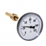 Termometru axial 1/4 d.40mm 0-120*C
