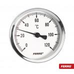 Termomanometru 63mm 1/2 FERRO (6 BAR) iesire centrala