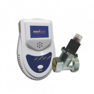 Detector gaz SICURGAS +electrovalva 3/4